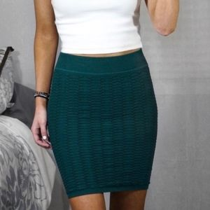 BCBGeneration Textured Bodycon Mini Skirt XS/SM
